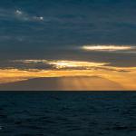 Sonnenuntergang auf dem Weg nach Wolf